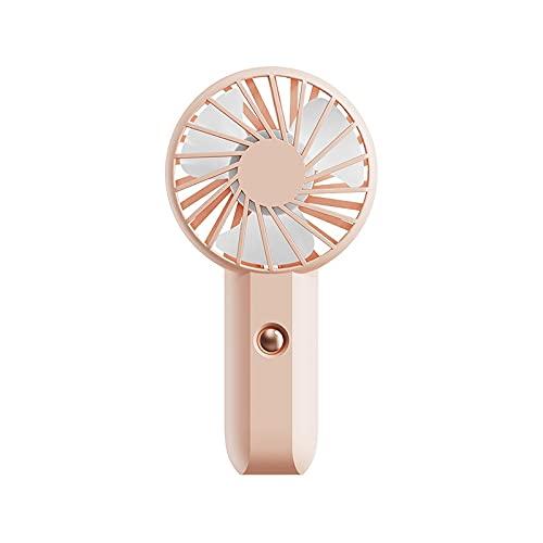 PPuujia Mini ventilador de carga portátil montado en el cuello ventilador vertical silencioso mesa portátil pequeño enfriador de aire montado en el cuello ventilador enfriamiento (color: Rosa-500mAh)