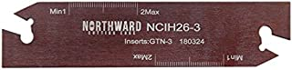 Accusize Industrial Tools 0.120'' by 4.33'' Ncih26-3 Positive Stop Adjustable Blade for Self Lock Cutoff Insert Gtn-3, 2402-0006