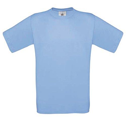 Shirtinstyle Tee-Shirt Exact 190 Bases T-Shirt COL Rond Plusieurs Couleurs B&C S-XXL - Bleu Ciel, XXL
