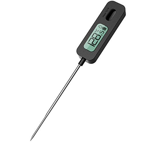 BFOUR Digitale Bratenthermometer Koch Fleischthermometer Küche Thermometer Einstichthermometer für BBQ Fleisch Grill Milch Wasser (Schwarz)