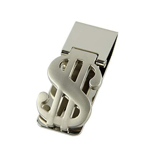 FA.WESSEL Geldscheinklammer Edelstahl im Dollar Design. Edel und elegant für Männer mit Stil und Klasse | Geldklammer | Money Clip | Geldclip