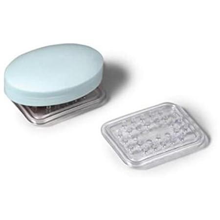 W x 3 in L Clear  Clear  Vinyl H x 2.3 in InterDesign  Soap Dish  0.6 in