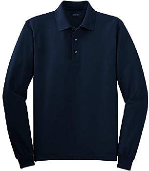 Joe s USA - Mens X-Large Tall Long Sleeve Polo Shirts in 36 Colors Navy