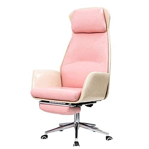 Sillas y sofás Silla de Ordenador Pink Girls Silla giratoria elevable Silla de Estudio con Respaldo Silla de Oficina ergonómica con reposapiés (Color : Pink, Size : 70 * 50 * 125cm)