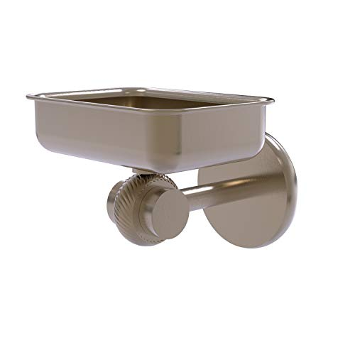 Allied Brass 7232T-PEW Satellite Orbit Two Collection Wall Mounted Twisted Accents Soap Dish, Antique Pewter