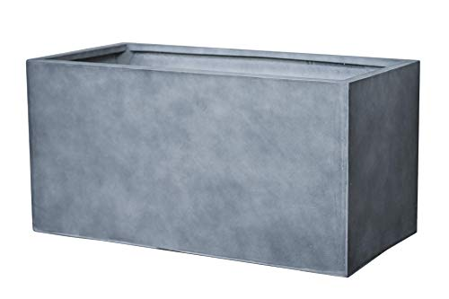 Vivanno Pflanztrog Pflanzkasten Fiberglas Beton-Design anthrazit Maxi - 45x100x45 cm