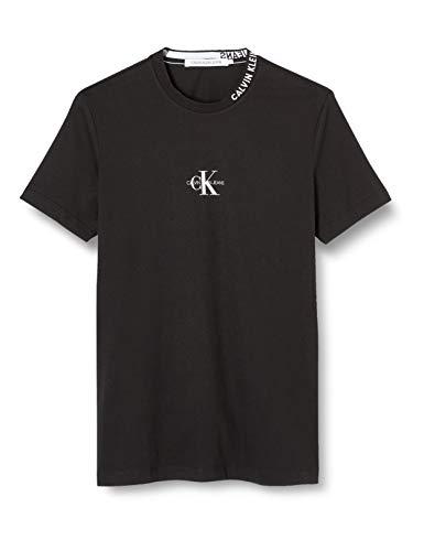 Calvin Klein Herren Center Monogram Tee Hemd, Black, XXL