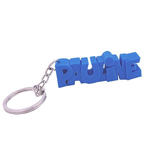 Porte-clés en 3D prénom ou Texte personnalisé – idée Cadeau Originale - Fabriqué en France - Anneau de 20 mm pour accrocher Vos clefs (Bleu Ciel)