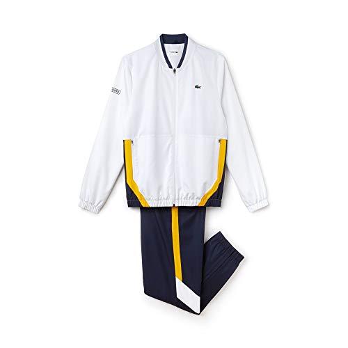 Lacoste Sport WH9512 Ensemble de Sport, Blanc (Blanc/Marine-Pomelo Enk), X-Small (Taille Fabricant: 2) Homme