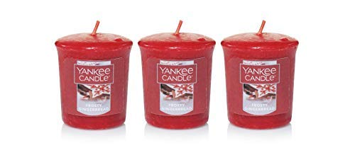 Yankee Candle 3 Frosty Gingerbread Sampler Votive Candles 1.75 oz Each