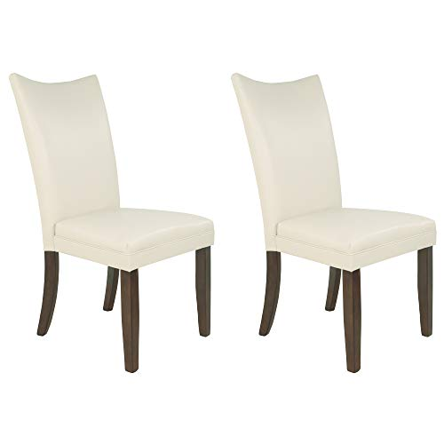 Signature Design by Ashley - Charrell Dining Upolstered Side Chair - Set of 2 - Contemporary Style - Ivory