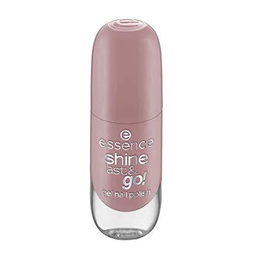 essence shine last & go! gel nail polish, Gellack, Nagellack, Nr. 80 Castles In The Sand, nude, gelig, scheinend, ohne Aceton, vegan, ohne Konservierungsstoffe (8ml)