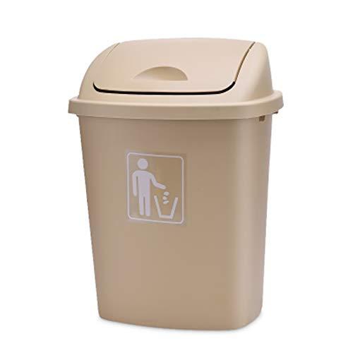 Bote de Basura de 12 litros, al Aire Libre, en el Aula Cubierto, Papel higiénico, Papel de Basura, Papelera de Basura DSJSP (Capacity : 40L, Color : Brass)