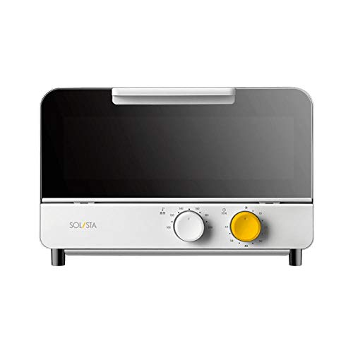 SHOUJIKE Elektroöfen Pizzaofen Backmikrowelle für Küchengeräte Herd Mini Elektroofen Air Grill-Weiß_ICH