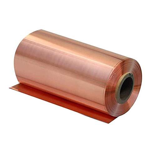 Dumadf Cu Lamiera Pure lastre di Rame 99,9% con Lo Strato di Resistenza alla corrosione T2 di Elevata purezza Metallo Foil Rotolo,300x1000mm,Thickness 0.2mm