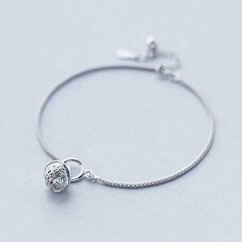 TYERY S925 - Cavigliera in argento, da donna, coreana, con campanella, cavigliera...
