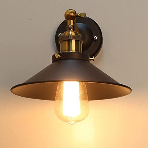 DZCGTP ® Applique da Parete Illuminazione Vintage Industriale Edison Simplicity 1 Luce Finitura Acciaio E27 E26 Base