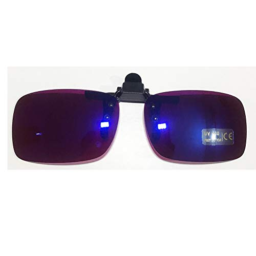 Colorful Blue Colorblindness Corrective Glasses 180° Flippable Clip Colorblind Correction Lens for Red Green Color Blind