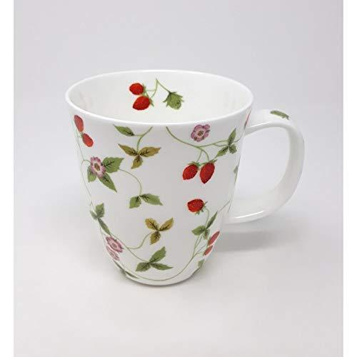 TeaLogic Tasse, Becher Mirella Erdbeeren für 350ml Porzellan weiß rot grün