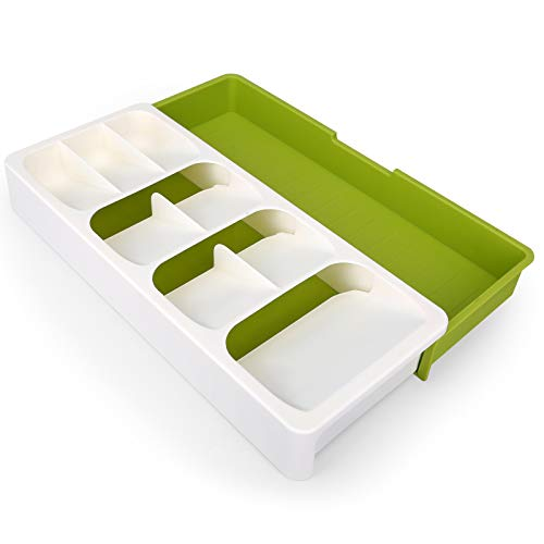 CEGAR Flatware organizer, Expandable Kitchen Drawer Organizer for Cutlery...