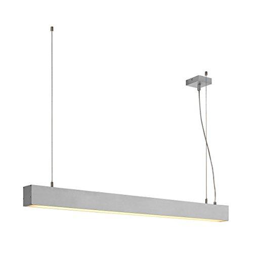 SLV LED Büro-Pendelleuchte dimmbar, höhenverstellbar, Blendfreie Büro-Beleuchtung, Arbeitszimmer-Deckenleuchte, Hänge-Lampe Büro, Arbeitsplatz-Beleuchtung, Panel, Warmweiß 3000K, LED Inside, EEK A++
