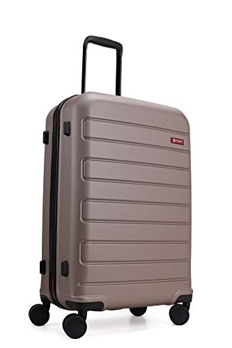 GinzaTravel Hardside Spinner, Carry-On, Wear-resistant, scratch-resistant Suitcase Luggage with Wheels (28-inch, Champagne)