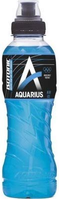 12 x Aquarius Sport Isotonic Blue Ice PET-Flaschen (12 x 0,5 L) EINWEG inkl. gratis FiveStar Kugelschreiber