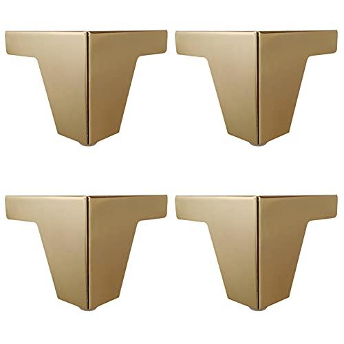 ZBYL Pies de Muebles de Acero Inoxidable, Patas de Mesa para escritorios, mesitas de Noche, televisores, mesas de café, con Almohadilla de protección de Goma, Fuerte Capacidad de Carga