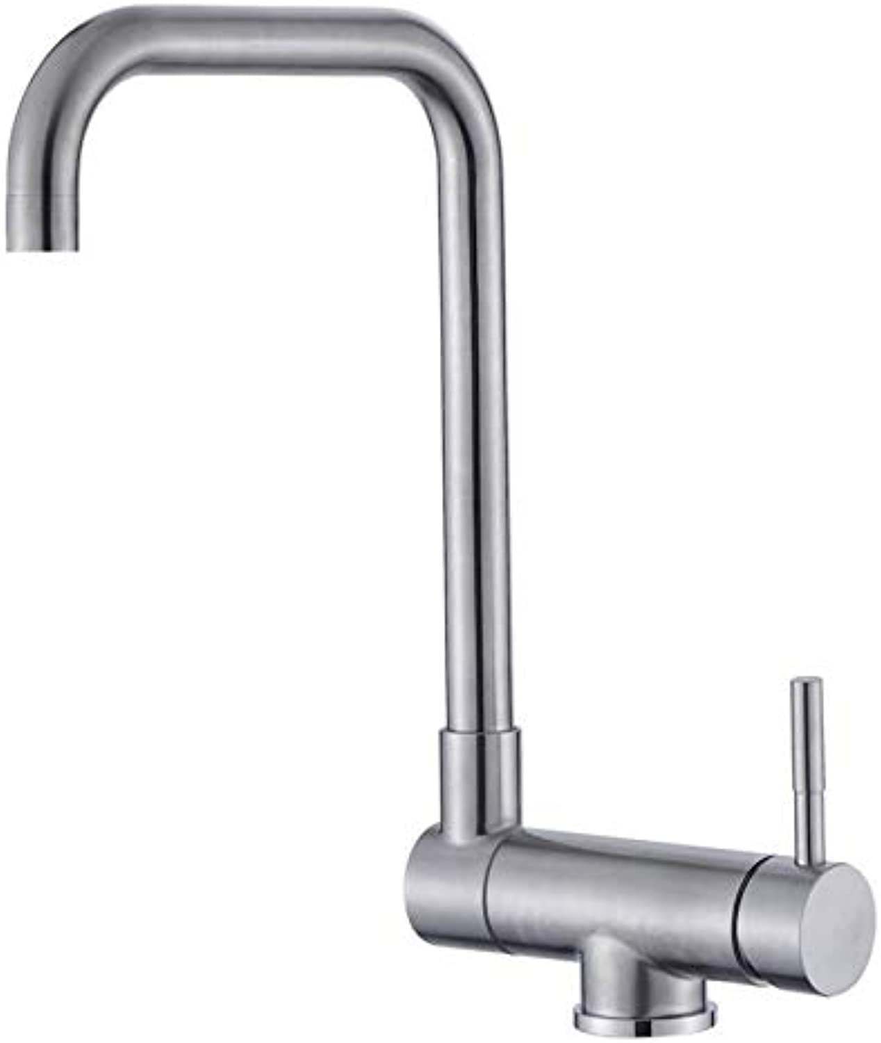 Bathroom Faucet 304 Stainless Steel Hot and Cold Kitchen redating Faucet Inside Window Low Folding Single Hole Faucet
