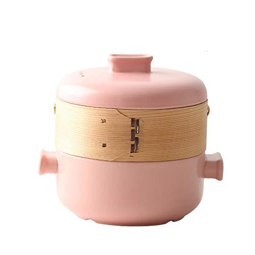 JT-Cookware Ustensiles De Cuisine Ménagers, Casserole Antiadhésive en Céramique Résistante Aux Hautes Températures avec Couvercle Et Cuiseur à Vapeur Facile à Nettoyer(Size:4L)