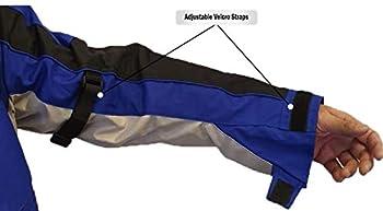 Hommes Moto Jacke Veste Blouson en Cordura Imperméable Motorcycle Jacket, Bleu, XXL