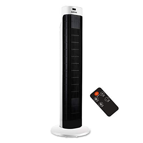 HENGMEI Turmventilator mit Fernsteuerung 60° Oszilation Standventilator Säulenventilator 60W Tower Fan mit 3 Geschwindigkeitsstufen, Timer