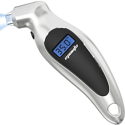EPAuto Digital Tire Pressure Gauge, 150 PSI, Silver