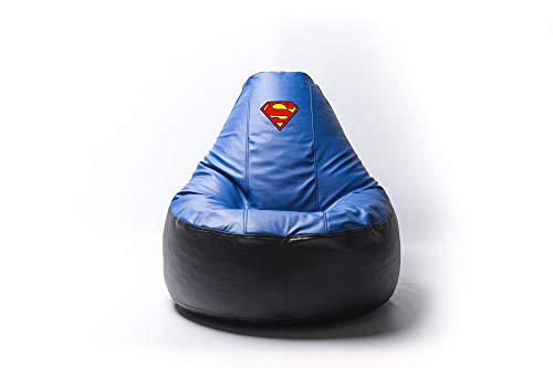 Superman Comics Superhero Comfortable Kids Adult Game Outdoor Indoor Lounge Chair Beanbag Cover + Inner Bag (Without Beans)