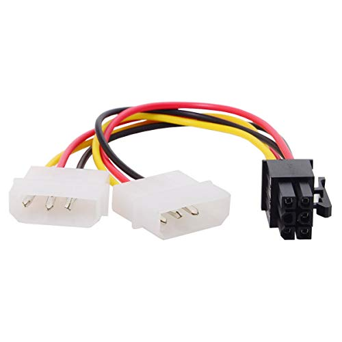 Cablecc - Cavo convertitore adattatore adattatore doppio 4pin a 6 pin EPS 12 V