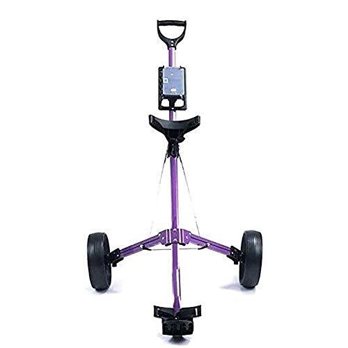 Fold Golfwagen mit 3 Rädern Faltbare Golf Cart, Golf-Trolley-2 Wheel lila Hand Push Cart Schnell Öffnen und...