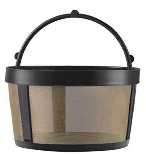 GoldTone Ersatz-Kaffeefilter, Netz-Unterseite, wiederverwendbar, 1 Stück, Schwarz/Gold