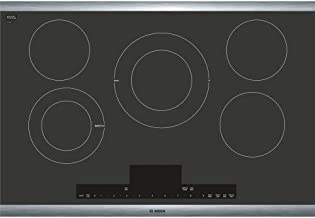 "Bosch Benchmark Series 30"" Black With Stainless Steel Frame Electric Cooktop NETP068SUC"