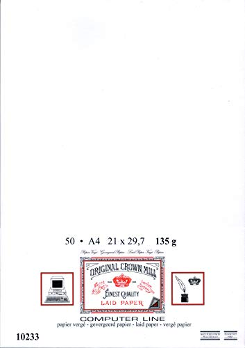 ORIGINAL CROWN MILL A4便箋 135g 50枚 ホワイト COMPUTER LINE 10233