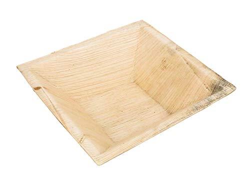 Wegwerp Palmblad Schalen - 25 Pack - Diepe Vierkante Kom - 7 (18 cm) 100% All Natural Areca Palm Leaf Tafelgerei - Biologisch Afbreekbare Ideaal voor een Picknick, BBQ en Outdoor Partijen