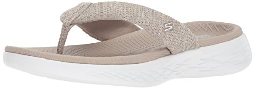 Skechers Performance Women's On-The-Go 600-15304 Flip-Flop,Taupe,11 M US