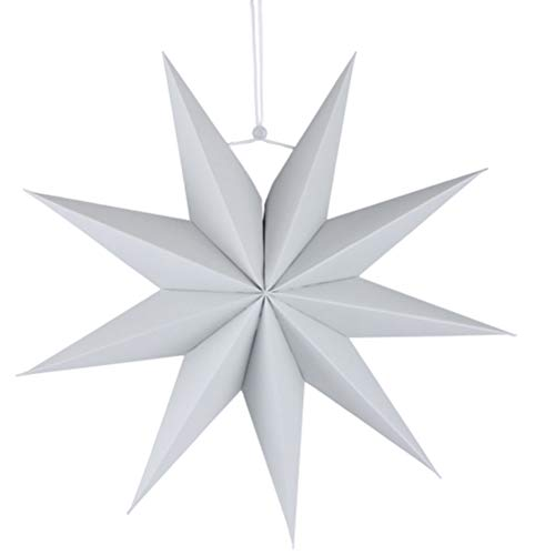 SUPVOX Papierstern Lampenschirm für Halloween Party Schlafzimmer Deko 30cm (Grau