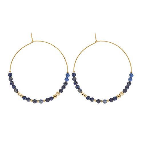 Zag Bijoux Creole Earrings with Stones