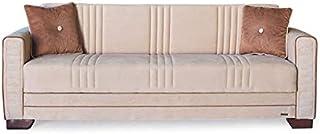 Moderno divano 3 posti in tessuto pigro Suite Living Room,2seater-Beige