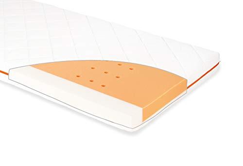 Pinolino 500067 Matratze für Kinderbetten 'Luna Sky', 140 x 70 cm, weiß