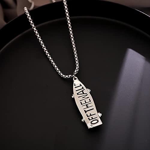 Trendy Halskette Koreanische Titan Stahl Halskette Herren Hip Hop Hip Hop Mit Kleidung Trend Personalisierte Pullover Kette Damenschmuck Silber Roller
