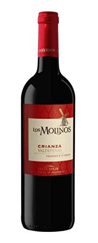 Los Molinos Crianza Tinto D. O. Valdepeñas Vino - Paquete de 6 x 750 ml - Total: 4500 ml