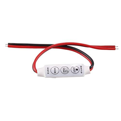 MOHAN88 Dimmer Mini 12V 12A LED Dimmer Control Remoto para un Solo Color 5050/3528 Regulador de Brillo de Tiras de LED - Negro y Rojo