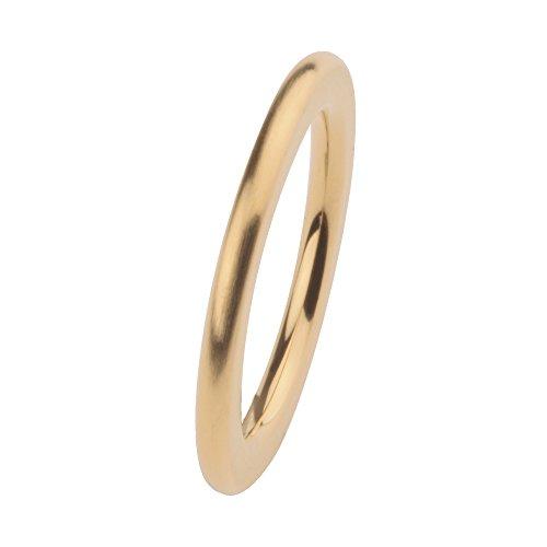 Ernstes Design Vorsteckring, ED vita Ring, Beisteckring, Ring aus Edelstahl beschichtet in Farbe Gold matt 2mm R256 (56 (17.8))