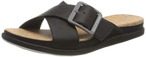 Clarks Women's Closed Toe Sandals , Beige Black , 10.5 US